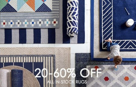 20–60% Off All In-stock Rugs from Pottery Barn Kids