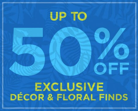 Up to 50% Off Exclusive Décor & Floral Finds