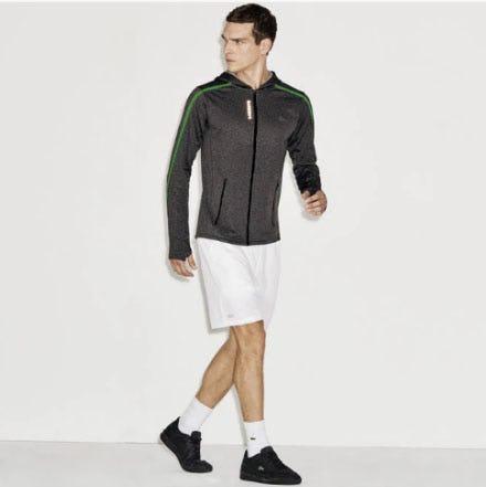 Men's Sport Contrast Waistband Stretch Tennis Shorts