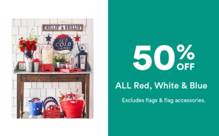 50% Off All Red, White & Blue from Michaels