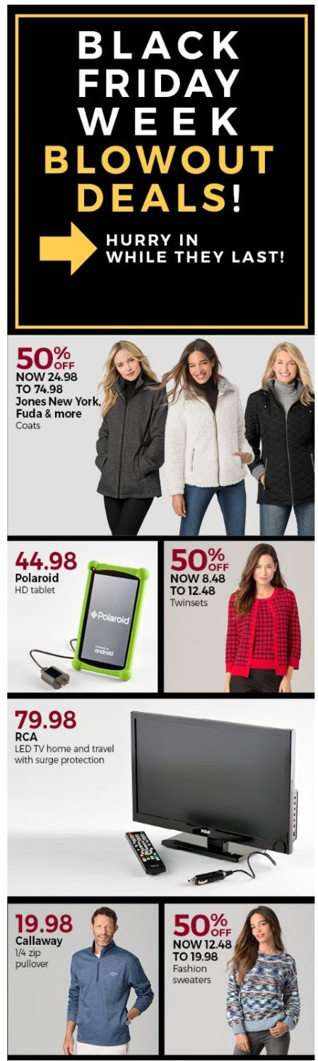 Black Friday Week Blowout Deals from Stein Mart