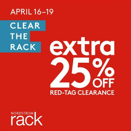 Clear The Rack at Nordstrom Rack! Now thru April 19th!