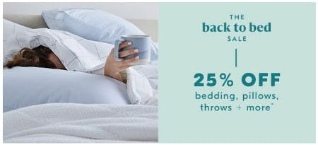 The Back to Bed Sale from West Elm
