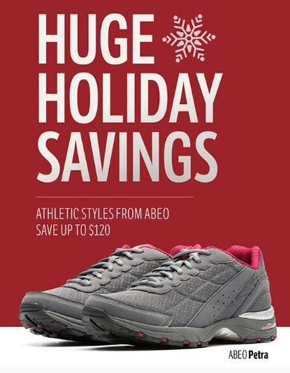 Up to $120 Off Athletic Styles from ABEO from THE WALKING COMPANY