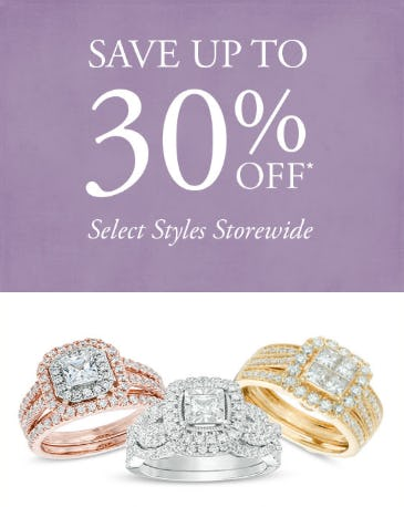 30% Off Select Styles from Gordon's Jewelers
