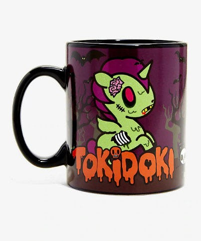 Tokidoki Zombie Glow-In-The-Dark Mug from Hot Topic