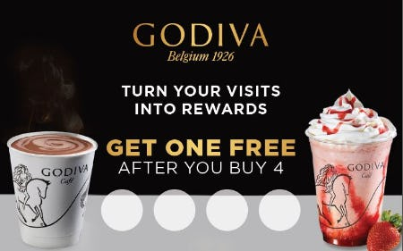 Turn Your Visits into Rewards! from Godiva Chocolatier
