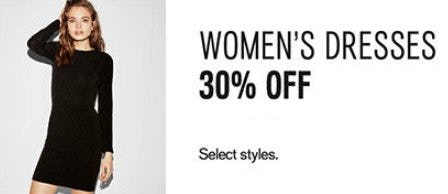 Women's Dresses 30% Off from Express