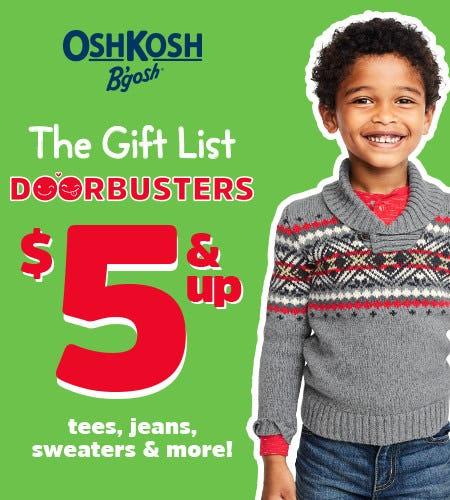 The Gift List Doorbusters $5 & Up