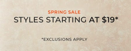 Spring Sale: Styles Starting at $19 from Chico's
