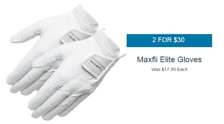 2 For $30 Maxfli Elite Gloves from Golf Galaxy