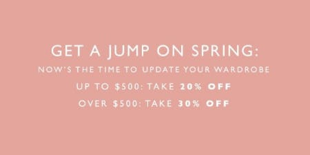 Spring Wardrobe Event: Up to 30% Off from STUART WEITZMAN