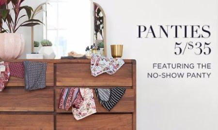 5 for $35 Panties