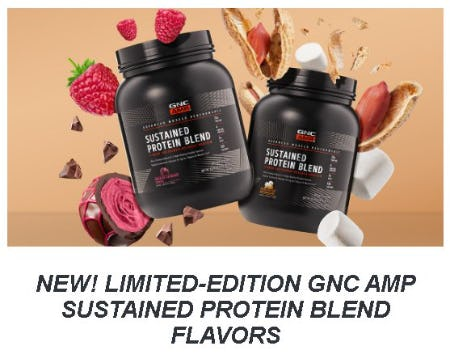 The New Limited-Edition GNC AMP Sustained Protein Blend Flavors from GNC