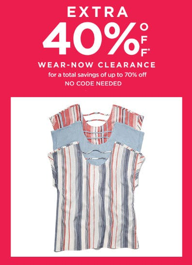 Extra 40% Off Wear-Now Clearance from Lord & Taylor
