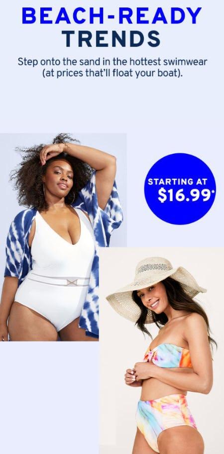 Swimwear Starting at $16.99 from Marshalls