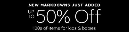 Up to 50% Off 100s of Items for Kids & Babies from Pottery Barn Kids