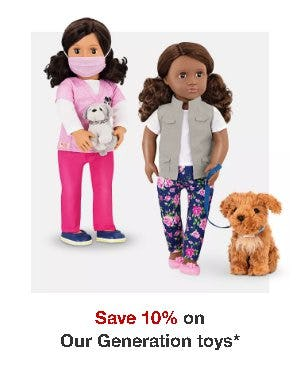 Save 10% on Our Generation Toys from Target