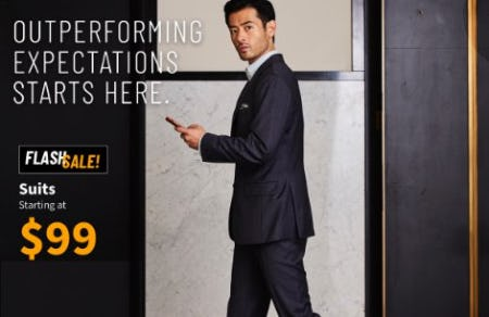 Suits Starting at $99 from Jos. A. Bank