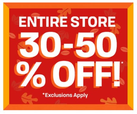 Entire Store 30-50% Off from The Children's Place Gymboree