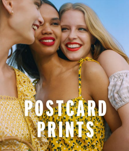 Postcard Prints from TOPSHOP