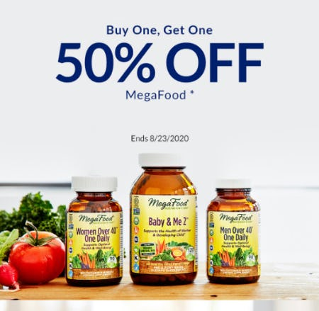 BOGO 50% Off Megafood from The Vitamin Shoppe