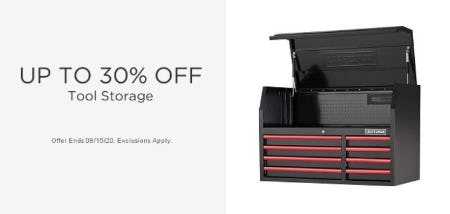 Up to 30% Off Tool Storage from Sears