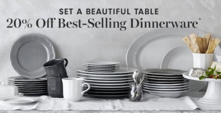 20% Off Best-Selling Dinnerware from Williams-Sonoma