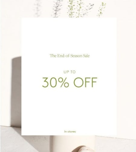 Up to 30% Off Sale from Club Monaco