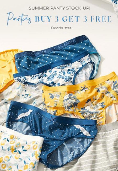 Panties Buy 3, Get 3 Free from Lane Bryant