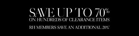 Up to 70% Off Clearance from Restoration Hardware