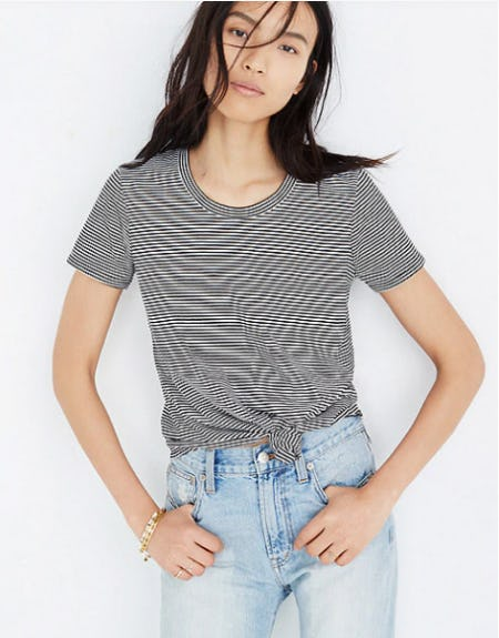 Knot-Front Tee in Stripe from Madewell