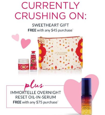 Sweetheart Gift Free with any $45 Purchase