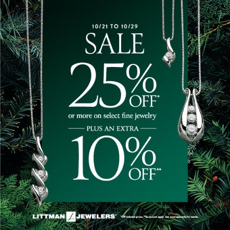 October Extra Saving Sale from Littman Jewelers
