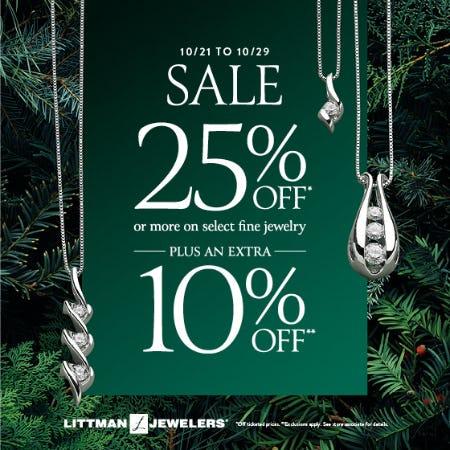 October Extra Saving Sale from Littman Jewelers