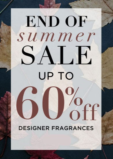 Up to 60% Off End of Summer Sale