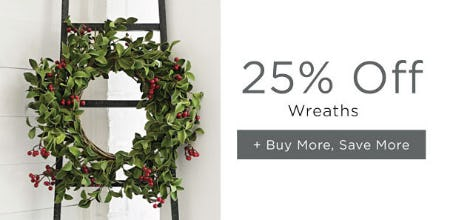 25% Off Wreaths from Kirkland's