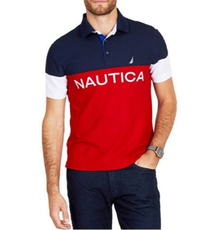 Nautica Classic Fit Short Sleeve Colorblock Navtech Polo from Lord & Taylor