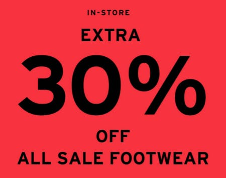 Extra 30% Off All Sale Footwear