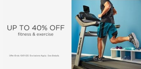 Up to 40% Off Fitness & Exercise