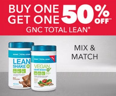Buy One, Get One 50% Off GNC Total Lean
