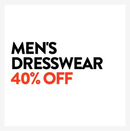 40% Off Men's Dresswear from Nordstrom