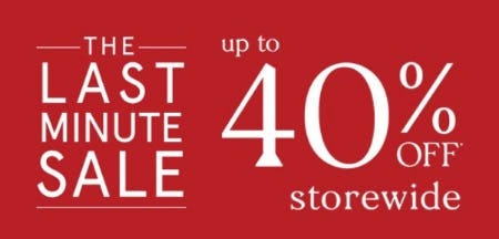 Up to 40% Off Storewide from Zales Jewelers