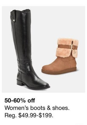 50-60% Off Women's Boots and Shoes from Macy's Men's & Home & Childrens