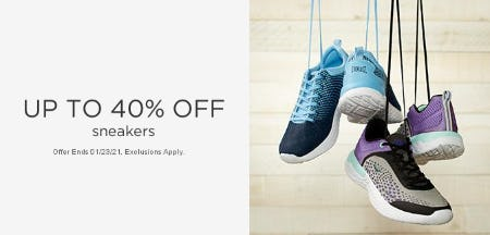 Up to 40% Off Sneakers from Sears