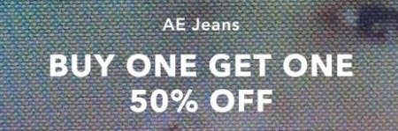 AE Jeans Buy One, Get One 50% Off
