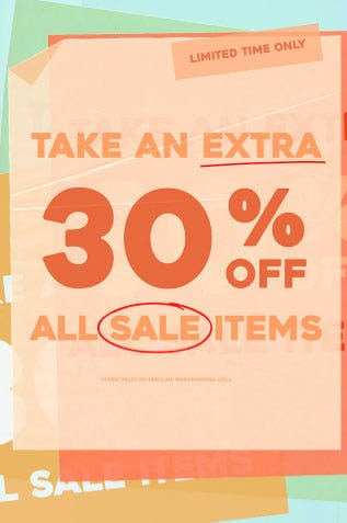 Extra 30% Off Sale from Urban Outfitters