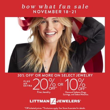 Bow What Fun Sale from Littman Jewelers