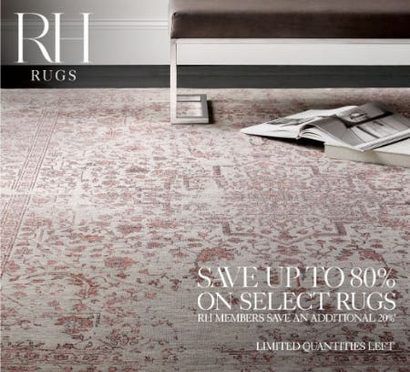 Up to 80% Off Select Rugs from Restoration Hardware
