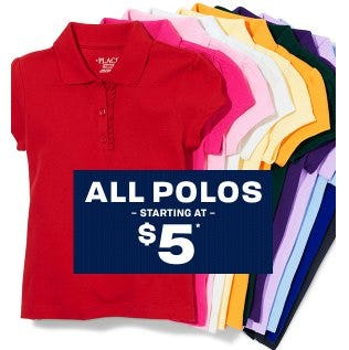 All Polos Starting at $5